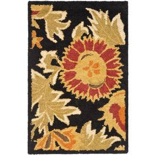 Safavieh Handmade Blossom Deliah Modern Floral Wool Rug (2 x 3 - Black/Multi)