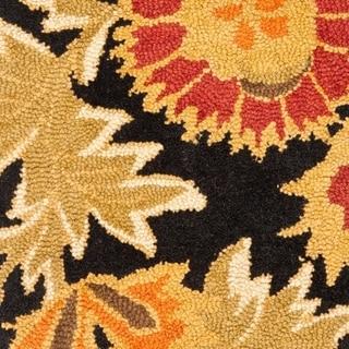 Safavieh Handmade Blossom Deliah Modern Floral Wool Rug (26 x 4 - Black/Multi)