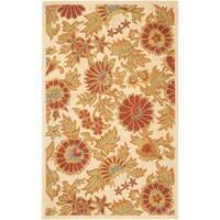 Safavieh Handmade Blossom Flowers Ivory Wool Rug - 5' x 8'
