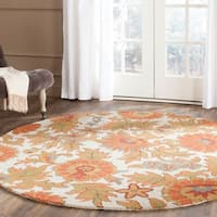 Safavieh Handmade Blossom Flowers Ivory Wool Rug - 6' x 6' Round