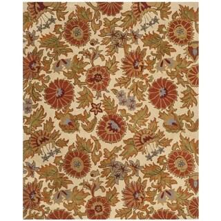 Safavieh Handmade Blossom Flowers Ivory Wool Rug (8' x 10')