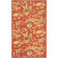Safavieh Handmade Blossom Botanical Rust Wool Rug - 4' x 6'