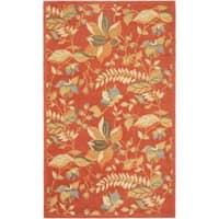 Safavieh Handmade Blossom Botanical Rust Wool Rug - 5' x 8'