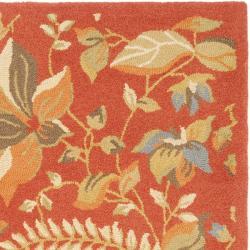 Safavieh Handmade Blossom Botanical Rust Wool Rug (8' x 10')