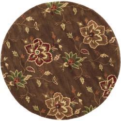 Safavieh Handmade Jardine Gardens Brown Wool Rug (6' Round)