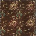Safavieh Handmade Jardine Gardens Brown Wool Rug (6' Square) - 6'
