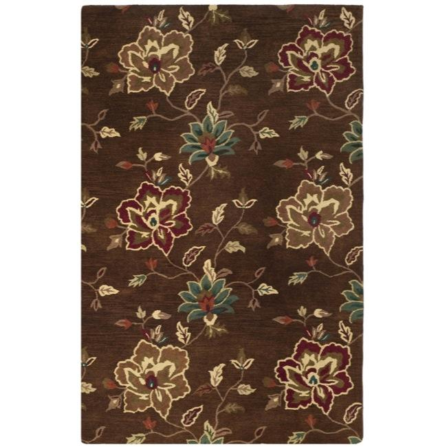 Safavieh Handmade Jardine Gardens Brown Wool Rug - 9' x 12'