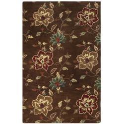 Safavieh Handmade Jardine Gardens Brown Wool Rug - 9' x 12' - Thumbnail 0