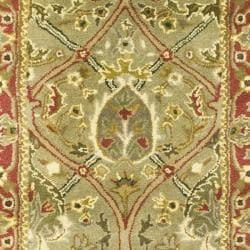 Safavieh Handmade Mahal Green/ Rust New Zealand Wool Runner (2'6 x 20') - Thumbnail 2