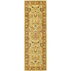 Safavieh Handmade Mahal Ivory/ Rust New Zealand Wool Runner (2'6 x 16')