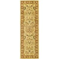 Safavieh Handmade Mahal Ivory/ Rust New Zealand Wool Runner (2'6 x 20')