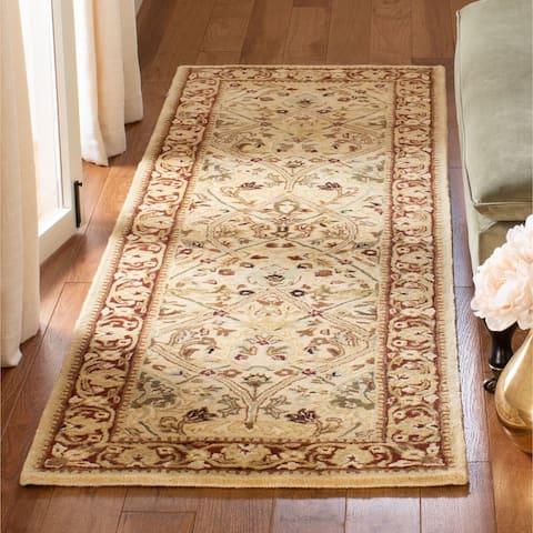 """Safavieh Handmade Mahal Ivory/ Rust New Zealand Wool Runner (2'6 x 20') - 2'6"""" x 20'"""
