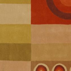 Safavieh Handmade Rodeo Drive Modern Abstract Khaki/ Rust Wool Rug (6' x 9') - Thumbnail 2