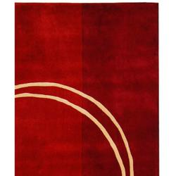 Safavieh Handmade Rodeo Drive Modern Abstract Red/ Ivory Wool Rug (8' x 11') - Thumbnail 1