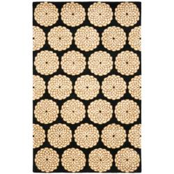 Safavieh Handmade Rodeo Drive Floral Black/ Ivory Wool Rug - 7'6 x 9'6 - Thumbnail 0
