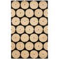Safavieh Handmade Rodeo Drive Floral Black/ Ivory Wool Rug - 7'6 x 9'6