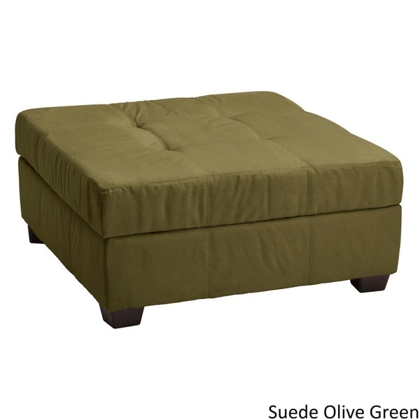 Hinged Storage Bench Part - 34: Epic Furnishings Vanderbilt 36-inch Square Hinged Storage Bench/ Ottoman -  Free Shipping Today - Overstock.com - 13414355