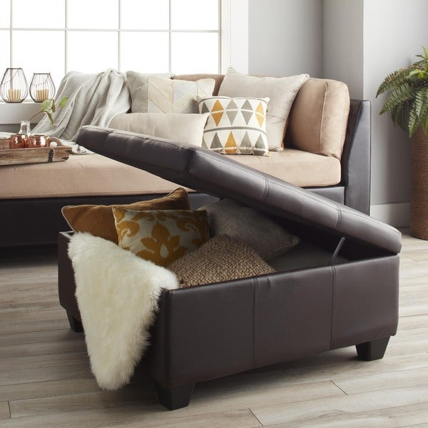Hinged Storage Bench Part - 33: Epic Furnishings Vanderbilt 36-inch Square Hinged Storage Bench/ Ottoman -  Free Shipping Today - Overstock.com - 13414355