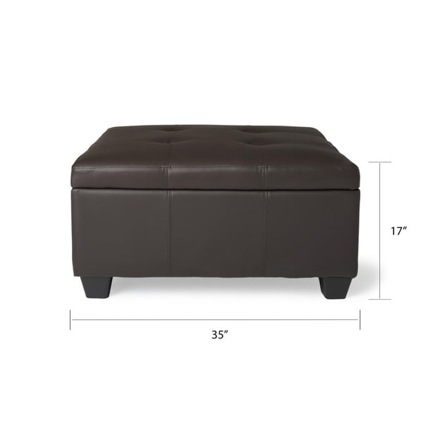 Hinged Storage Bench Part - 16: Epic Furnishings Vanderbilt 36-inch Square Hinged Storage Bench/ Ottoman -  Free Shipping Today - Overstock.com - 13414355