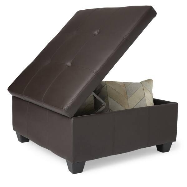 Pleasant Shop Copper Grove Gowlland 36 Inch Square Hinged Storage Customarchery Wood Chair Design Ideas Customarcherynet