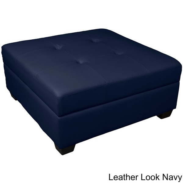 Epic Furnishings Vanderbilt 36 Inch Square Hinged Storage Bench/ Ottoman    Free Shipping Today   Overstock.com   13414355