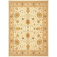 Safavieh Handmade Majesty Ivory/ Beige New Zealand Wool Rug (5'3 x 7'6)