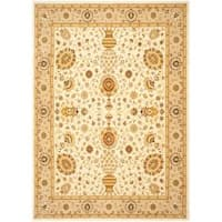 Safavieh Handmade Majesty Ivory/ Beige New Zealand Wool Rug - 5'3 x 7'6