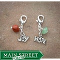 Fashion Forward Pewter Joy and Hope Charms (Set of 2)