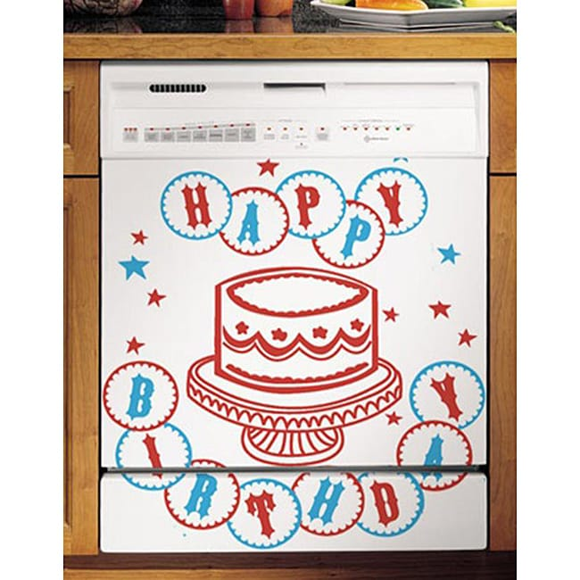 Appliance Art's Happy Birthday Dishwasher Cover