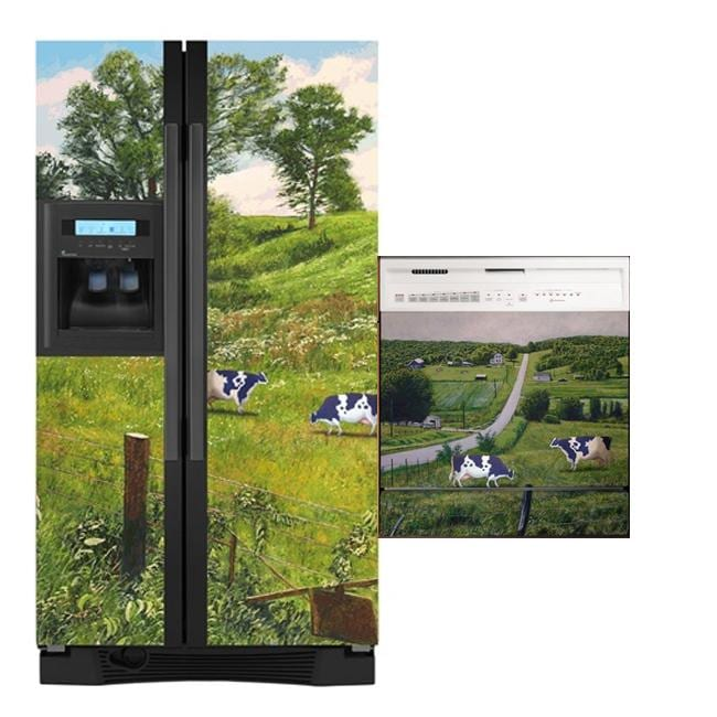 Appliance Art's Country Cow Magnetic Dishwasher and Refrigerator Covers