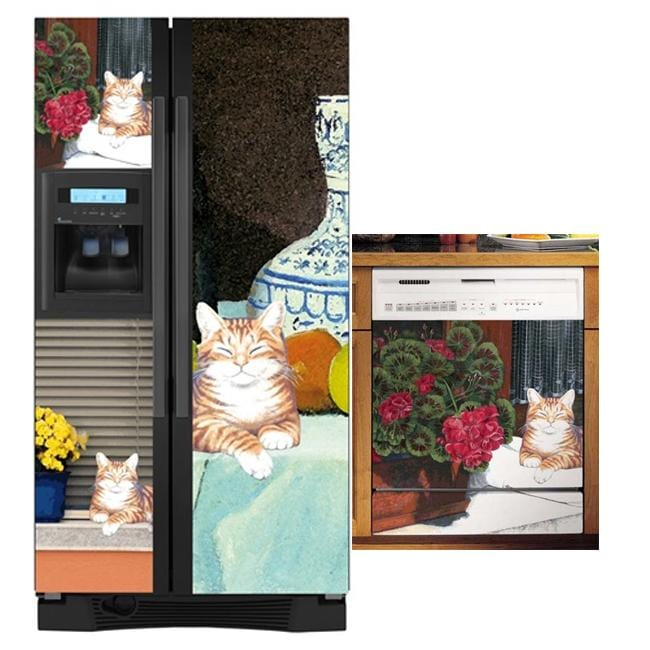 Appliance Art's Cat Dishwasher and Refrigerator Covers