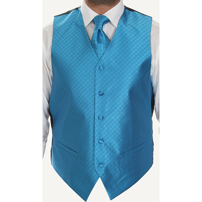 Ferrecci Men's Four-Piece Microfiber Vest Set