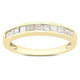 Miadora 10k Yellow Gold 1/2ct TDW Diamond Anniversary Ring (G-H, I2-I3)