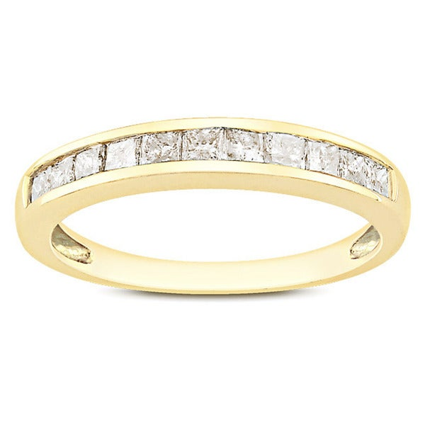 Miadora 10k Yellow Gold 1/2ct TDW Diamond Anniversary Ring (G-H, I2-I3)