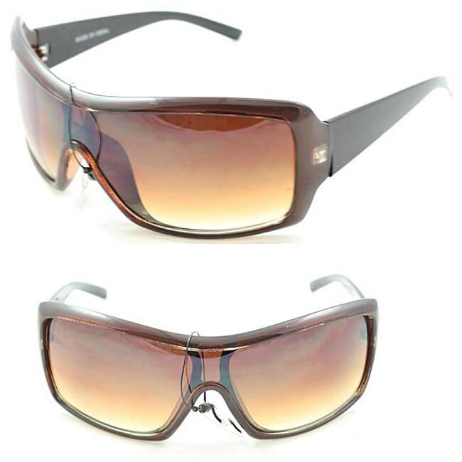 Men's P2027 Brown/ Black Shield Sunglasses