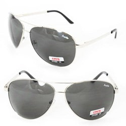 Unisex 5007 Black Aviator Sunglasses