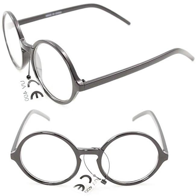 Restore Men's Black/ Clear Round Fashion Sunglasses