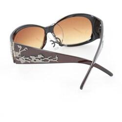 Women's P2089 Brown Round Sunglasses
