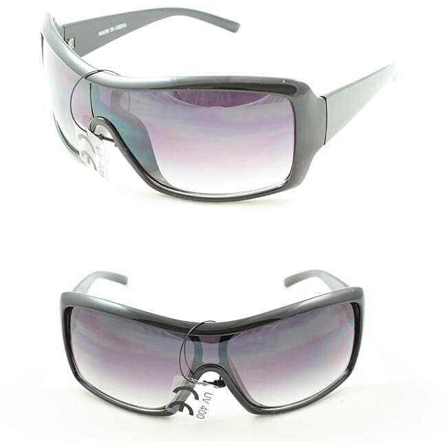 P2027 Purple/ Black Shield Sunglasses