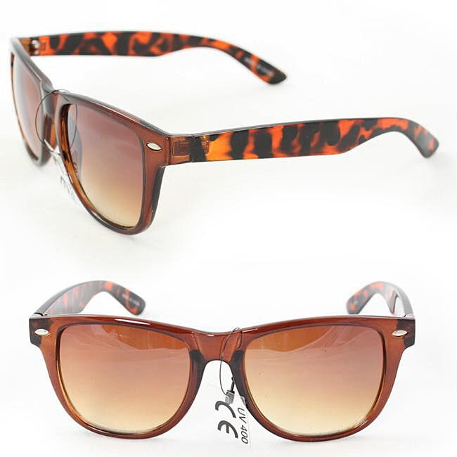 Unisex 972 Brown Leopard Fashion Sunglasses