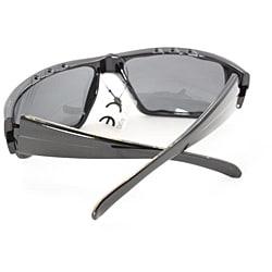 Men's Black Wrap Fashion Sunglasses