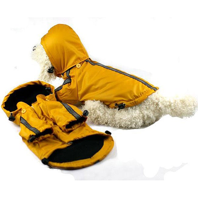 Petlife Extra Small Hooded Sport Dog Rainbreaker, Yellow,...