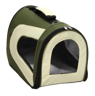 Pet Life Medium Green Mesh Pet Dog Carrier Crate