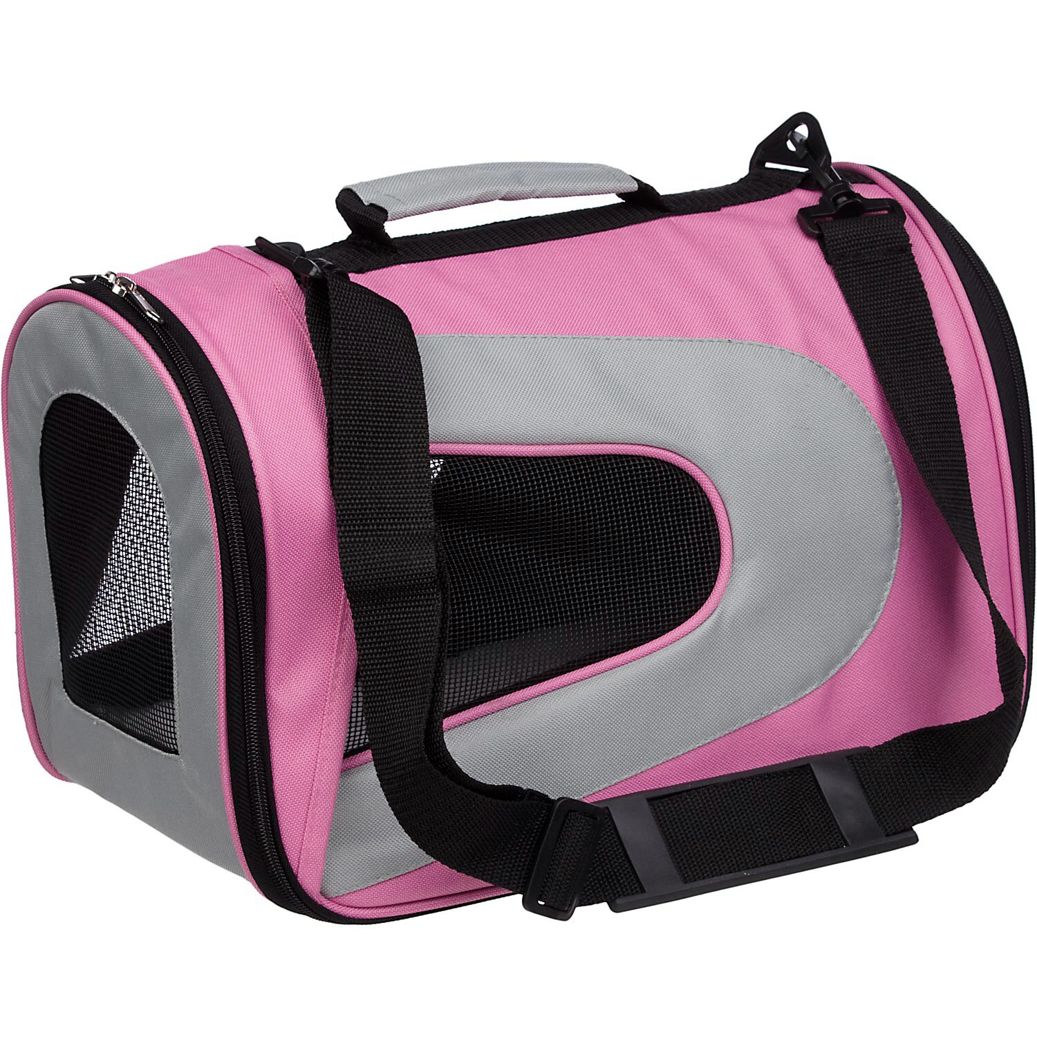 Petlife Airline Approved Folding Collapsible Large Pink M...