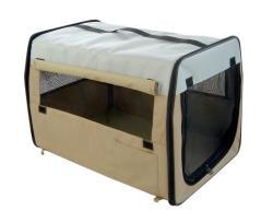 Folding Zippered Khaki Pet Carrier
