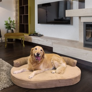integrity orthopedic memory foam joint relief bolster dog bed med xl