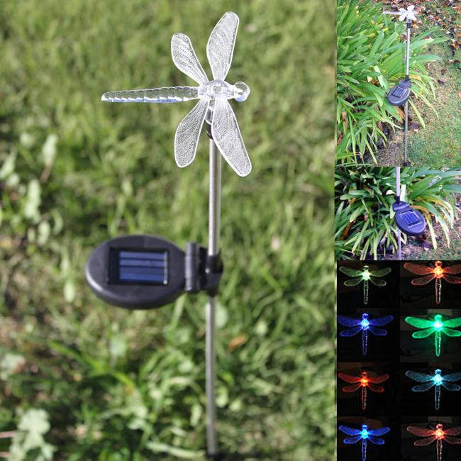 solar led dragonfly garden stake free shipping on orders over 45