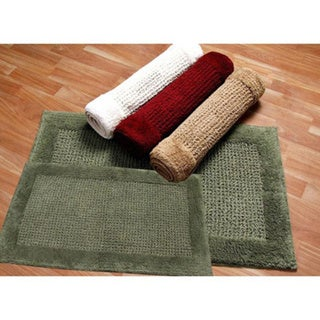 Ashland Cotton 2-piece Bath Mat Set - includes BONUS step out mat