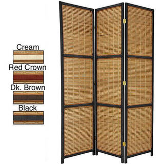 Handmade Woven Wood 6-foot Accent Room Divider (China)