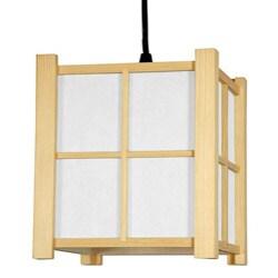 Wood and Paper 7-inch Boku Japanese-style Hanging Lantern (China)